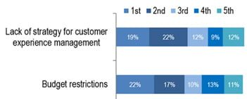 Customer experience strategy obstacles