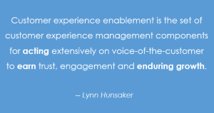 Customer experience enablement definition